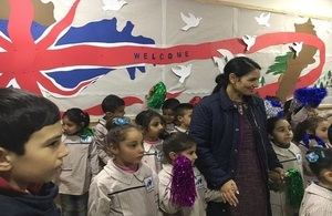 International Secretary of State visits school in Bekaa during visit to Lebanon