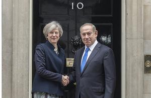 British Prime Minister Theresa May and Israeli Prime Minister Benjamin Netanyahu