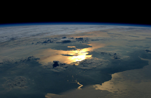 View of UK from space