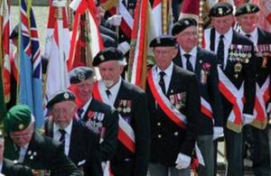 Veterans on parade, Crown Copyright