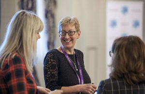 Sue Dunkerton from the Knowledge Transfer Network UK speaks to delegates