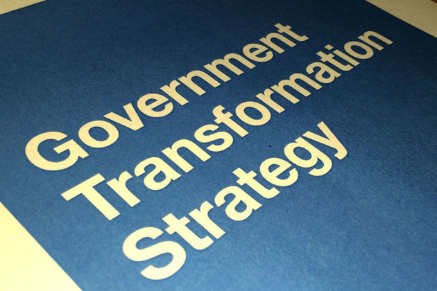 Front page of Government Transformation Strategy 2017-2020