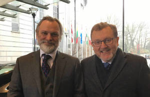 Sir Tim Barrow and David Mundell