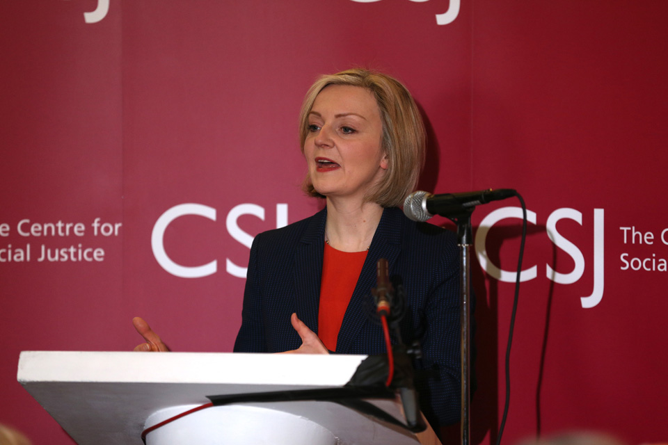 The Rt Hon Elizabeth Truss MP at The Centre for Social Justice.