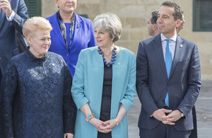 Prime Minister Theresa May at the Malta informal European Council with other European leaders