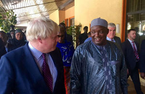 Boris Johnson and President Barrow