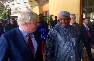 FS Boris Johnson in Gambia