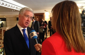 Defence Secretary Sir Michael Fallon this week attended the Munich Security Conference. Crown Copyright.