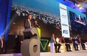 Ambassador Hugo Shorter at the ArabNet event