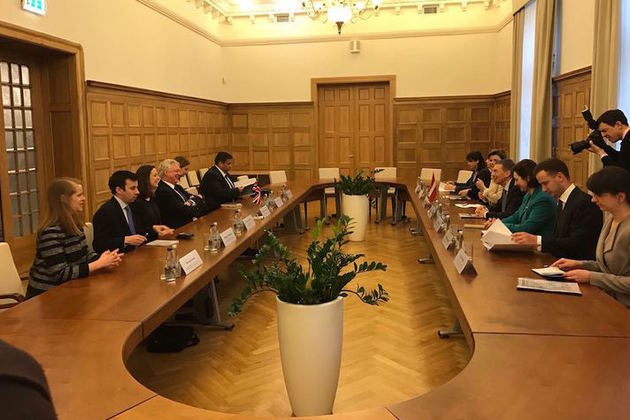 David Davis visits Baltic leaders to discuss future relations' within 'Department for Exiting the European Union