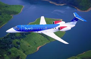 BMI aircraft.
