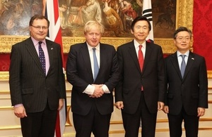 Foreign Secretary hosts high-level foreign policy talks with South Korea'