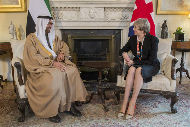 Prime Minister Theresa May meeting the Crown Prince of Abu Dhabi