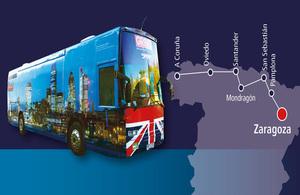 El `GREAT bus´ de la Embajada británica acerca lo mejor  del Reino Unido al norte de España