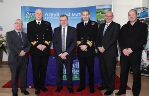 Representatives from HMNB Clyde and Argyll and Bute Council with Secretary of State David Mundell