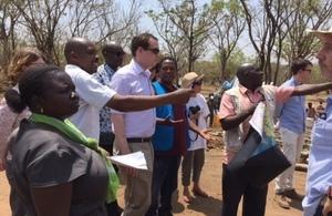 Minister Wharton at Imvepi Refugee Settlement
