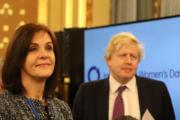 Joanna Roper & UK Foreign Secretary Boris Johnson