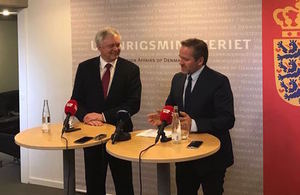 A new chapter in UK-Denmark relations'' within 'Department for Exiting the European Union