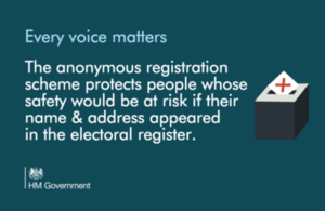 anonymous voter registration