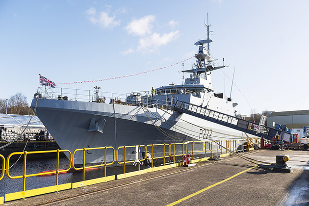 Read the Royal Navy's first new Offshore Patrol Vessel formally named article