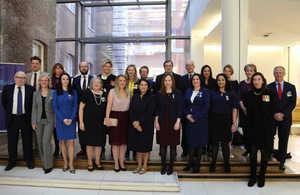 Priti Patel meets the DFID staff selected to attend the Iraq and Afghanistan memorial.