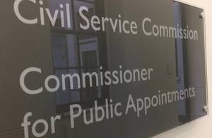 Commissioner for Public Appointments Sign