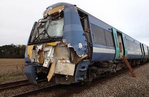 Image showing damage to train 1K77