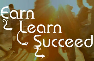 Earn, Learn, Succeed - Fast Track Apprenticeship graphic