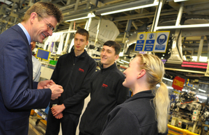 Greg Clark meets apprentices at Toyota car plant