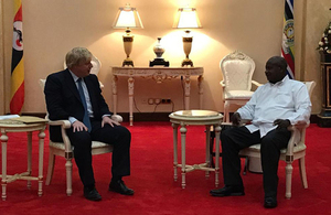 Rt Hon Boris Johnson meets President Yoweri Museveni