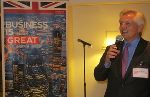 Richard Graham at the Business reception in Manila