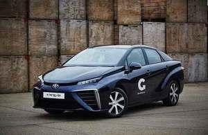 Hydrogen-powered vehicle.