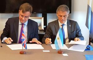 International Trade Minister Greg Hands in Argentina.