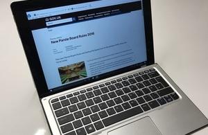 Parole Board rules webpage