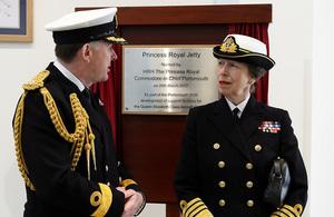 HRH Princess Royal names new jetty