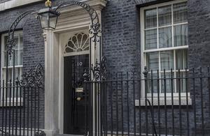 Number 10 front door