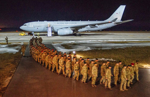 UK troops arrive in Estonia for major NATO deployment