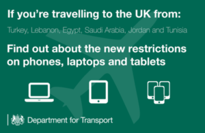 Additional hand luggage restrictions on some flights to the UK.