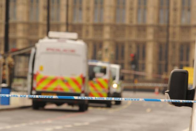 Police van in Westminster