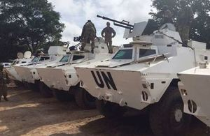 UN armoured vehicles