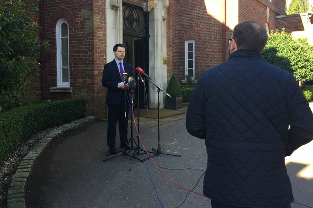 James Brokenshire outside Stormont House