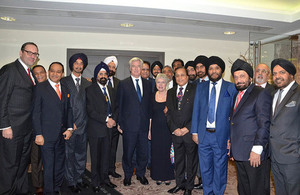 The Defence Secretary paid tribute to the rich history that Sikhs have with the Armed Forces