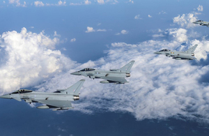 RAF Typhoons will deploy to Romania to support NATO's Southern Air Policing mission. Crown Copyright.