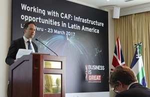UKEF to provide a least US$1.2bn to support development projects in Peru