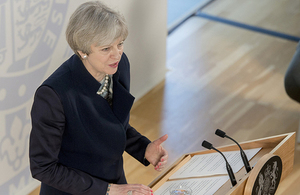 Prime Minister gives her speech to DFID