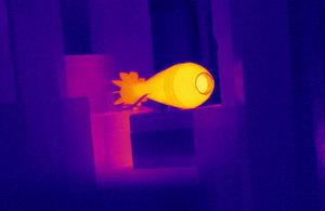 Test laser melts a mortar bomb