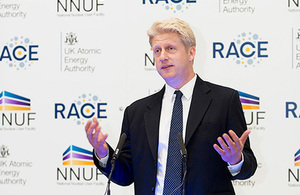 Science Minister, Jo Johnson opening RACE & MRF