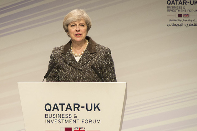 Prime Minister speaking at the Qatar-UK Business and Investment Forum