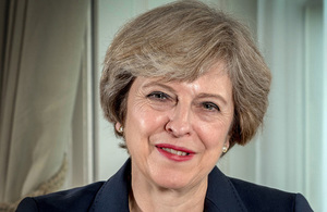 Portrait of UK PM Theresa May