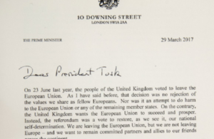 Letter triggering Article 50